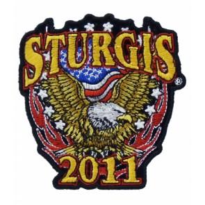 2011 Sturgis Rally Patriotic Eagle Event Patch