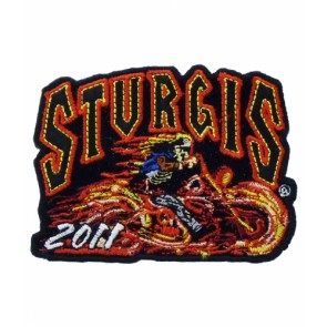 2011 Sturgis Rally Racer Skeleton Biker Event Patch