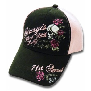 2011 Sturgis Black Hills Rally Pink Skull & Roses Event Hat