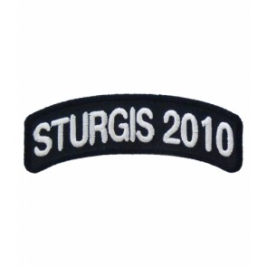 2010 Sturgis Motorcycle Rally White Rocker Event Patch