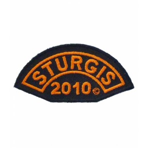 2010 Sturgis Motorcycle Rally Orange Half Moon Event Patch