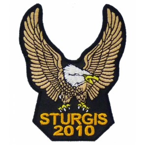 2010 Sturgis Rally Brown Upwing Eagle Event Patch