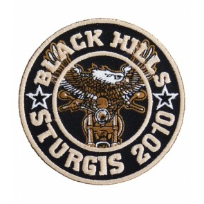 2010 Sturgis Black Hills Rally Round Eagle Biker Patch