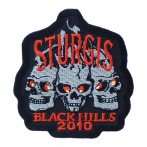 2010 Sturgis Black Hills Rally 3 Skulls Event Patch