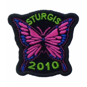 2010 Sturgis Motorcycle Rally Pink Butterfly Event Patch