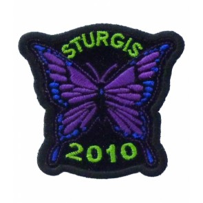 2010 Sturgis Motorcycle Rally Purple Butterfly Event Patch
