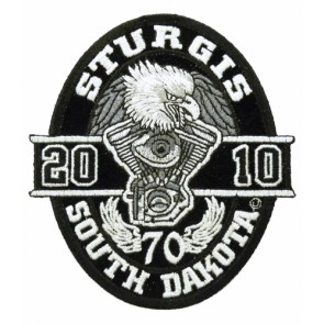 2010 Sturgis, South Dakota Oval Eagle Event Patch