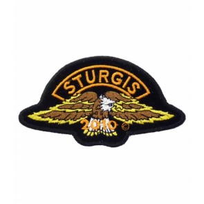 2010 Sturgis Motorcycle Rally Brown Eagle Rocker Event Patch