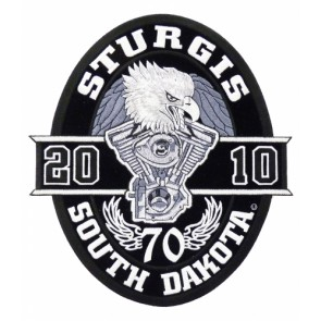 2010 Sturgis, South Dakota Oval Eagle Large Event Patch