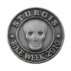 Sturgis Bike Week 2010 Grey Skull Event Pin