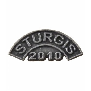 Sturgis 2010 Motorcycle Rally Grey Rocker Pin