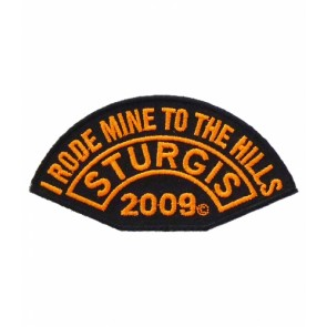 2009 Sturgis I Rode Mine To The Hills Rocker Patch