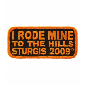 2009 Sturgis I Rode Mine To The Hills Orange Rally Patch