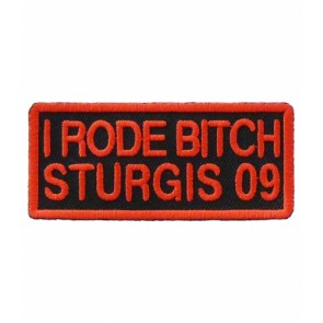 2009 Sturgis I Rode Bitch Red Event Patch