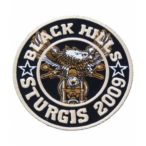 Black Hills Sturgis 2009 Round Eagle Biker Patch
