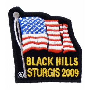 Black Hills Sturgis 2009 American Flag Patch