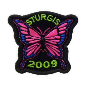 2009 Sturgis Motorcycle Rally Pink Butterfly Patch