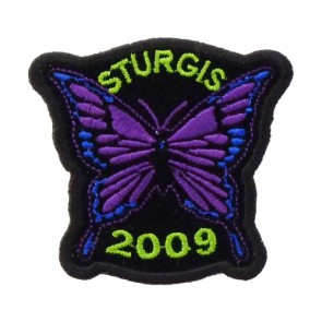 2009 Sturgis Motorcycle Rally Purple Butterfly Patch