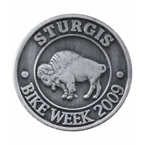 Sturgis Bike Week 2009 Grey Buffalo Event Pin