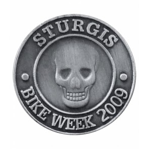 Sturgis Bike Week 2009 Grey Skull Event Pin