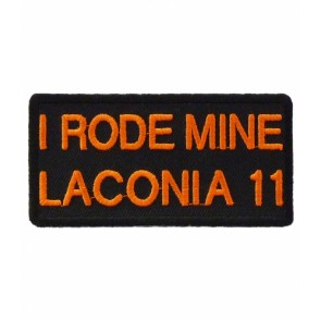 2011 Laconia I Rode Mine Orange Event Patch