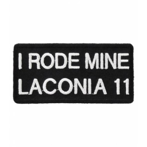 2011 Laconia I Rode Mine White Event Patch