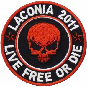 Laconia 2011 Live Free Or Die Red Skull Event Patch