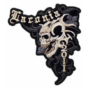 Laconia 2011 Bike Week Marble Skull Event Patch