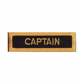 Captain Gold & Black Patch, Service Rank Patches
