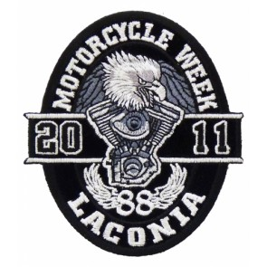 Laconia Motorcycle Week 2011 Oval Eagle Patch