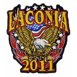2011 Laconia Motorcycle Week Patriotic Eagle Patch