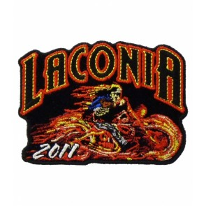 Laconia 2011 Motorcycle Week Flaming Rider Patch
