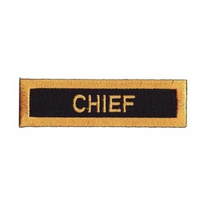 Chief Gold & Black Patch, Service Rank Patches