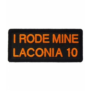 I Rode Mine Laconia 2010 Orange Event Patch