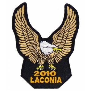 2010 Laconia Motorcycle Week Gold Eagle Patch