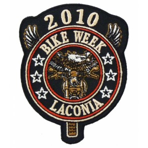 2010 Laconia Bike Week Eagle Biker Event Patch