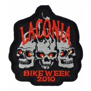 Laconia Bike Week 2010 3 Grey Skulls Event Patch