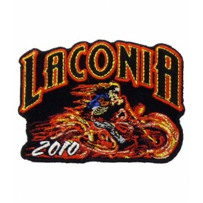 Laconia Bike Week 2010 Flaming Rider Patch
