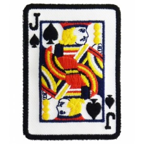Jack of Spades Card Patch, Playing Cards Patches