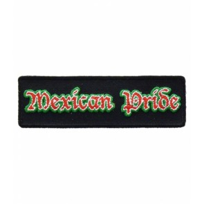 Mexican Pride Red & Green Patch, Proud Mexican Patches