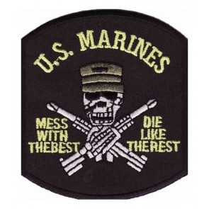Marines Mess With The Best Skull Patch, Military Patches