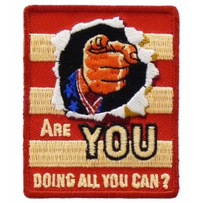 Are You Doing All You Can Patch, Political Patches