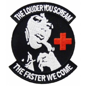 The Louder You Scream Patch, Nursing & Medical Patches