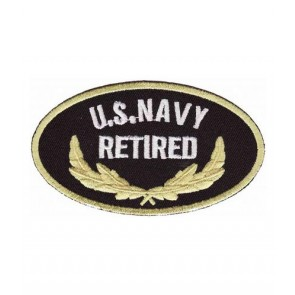 Navy Retired Oval Patch, U.S. Navy Patches
