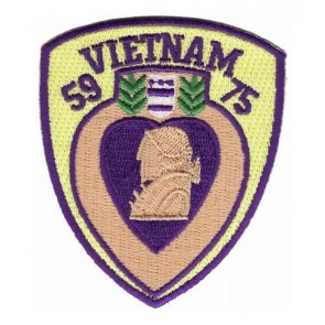 Vietnam Purple Heart Award Patch, Vietnam Patches