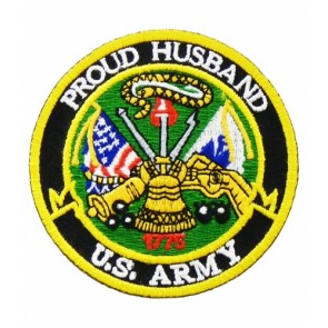 U.S. Army Proud Husband Patch, Military Patches