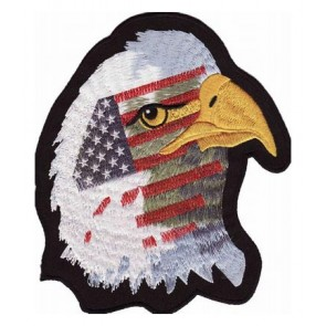 American Flag Eagle Patch Facing Right, Patriotic Patches