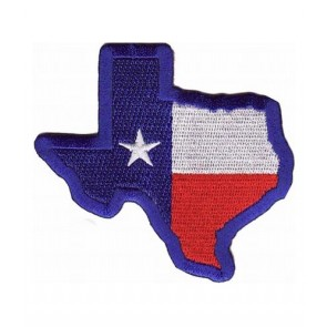 Texas State Flag Map Blue Patch, Texas Flag Patches