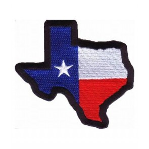 Texas State Flag Map Black Patch, Texas Flag Patches