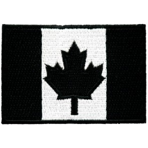 Canada Flag Black & White Patch, Canadian Patches